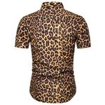 Slim Fit Leopard Printed Shirt SaddleBrown