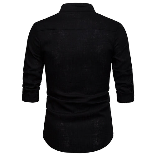 Regular Fit Pullover Casual Shirt Black