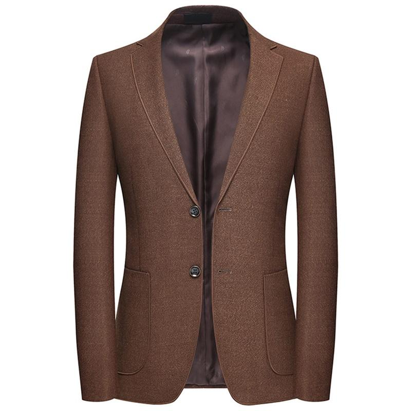Casual Tan Blazer Two Buttons Jacket