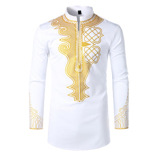 Gold Foil Stamping Shirt For Men