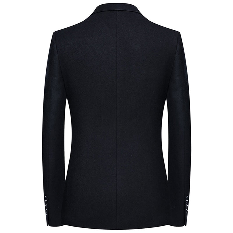 Casual Black Blazer Two Buttons Jacket