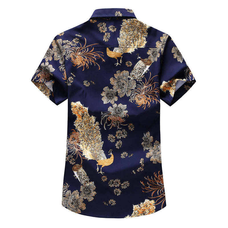 Slim Fit Printed Casual Shirt MidnightBlue
