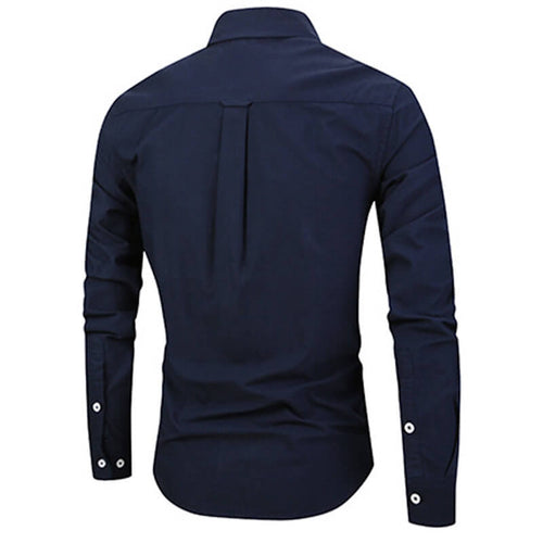 Slim Fit Navy Stylish Cotton Shirt