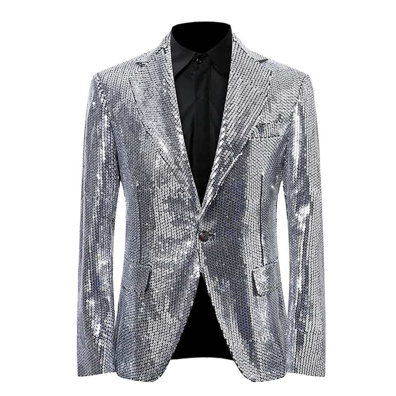 Silver Sequin Jacket Stage Show Dress Blazer
