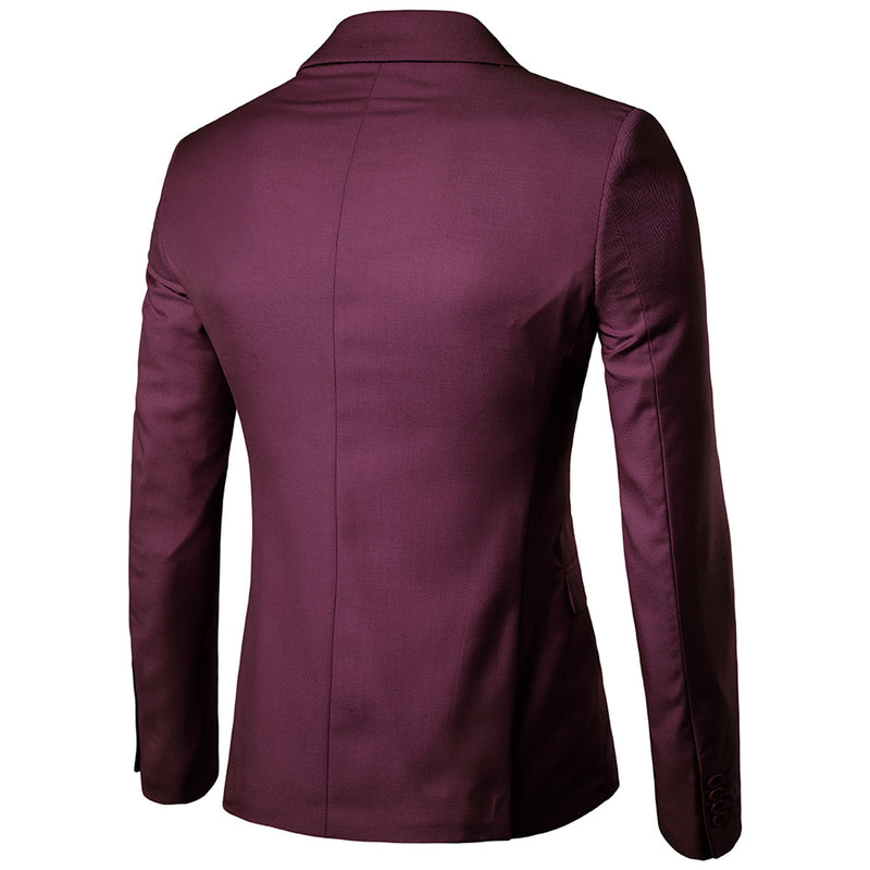 Maroon Casual Blazer Slim Fit Business Blazer