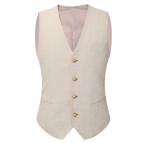 Slim Fit Casual Vest White - Cloudstyle