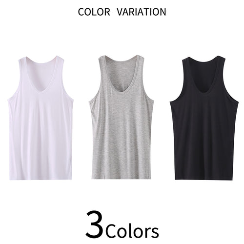U-Neck Thin Undershirt Modal Tank Top 3 Colors