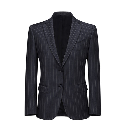 Classic Navy Striped Two-Piece Suit