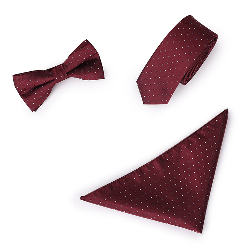 3-Piece Polka Dot Formal Tie Set 3 Colors
