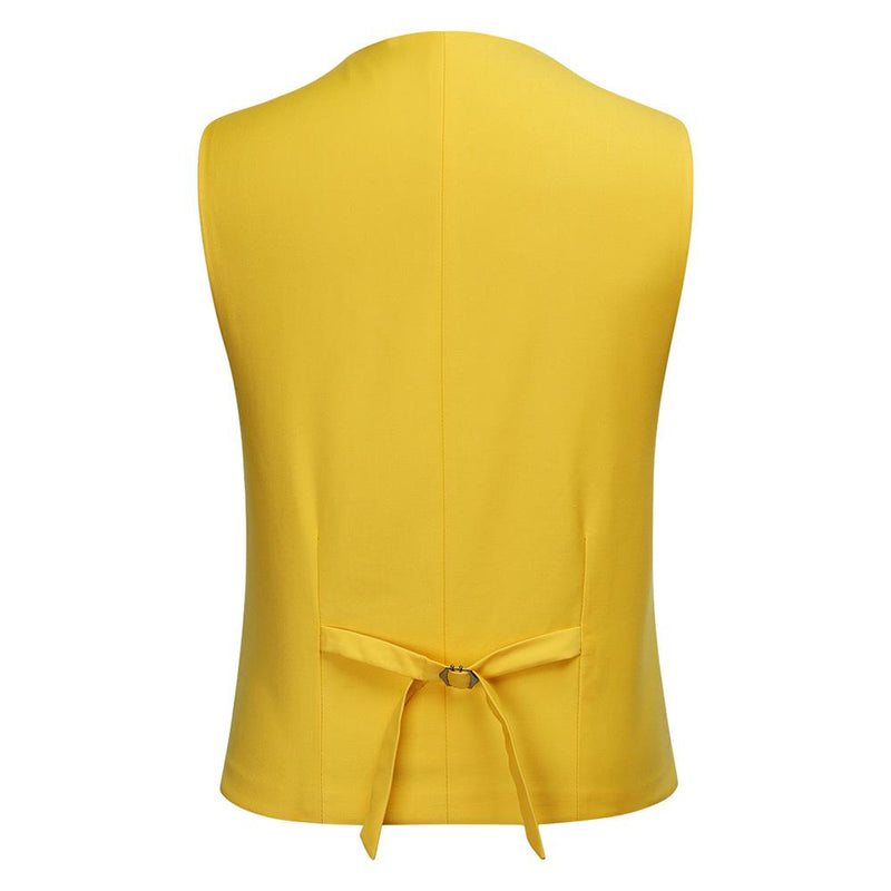 3-Piece Slim Fit One Button Fashion Yellow Suit