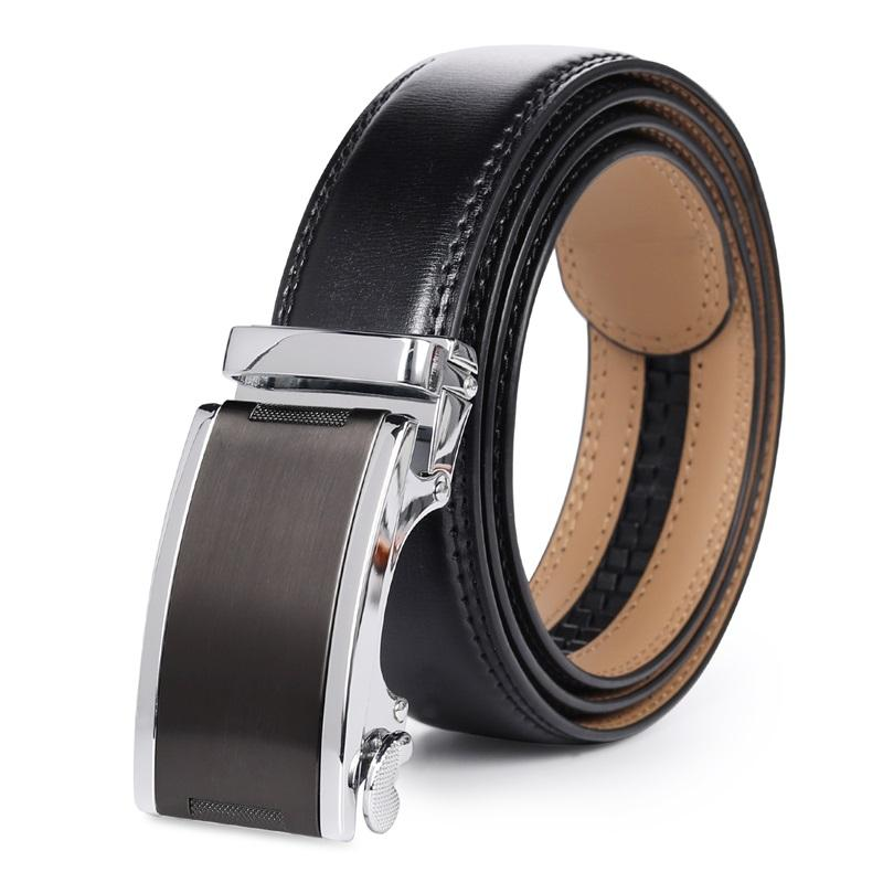Mens Genuine Leather Dress Belt Black