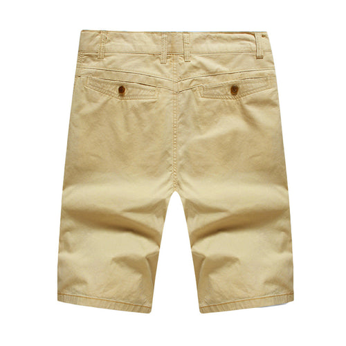 Summer Casual Shorts In Khaki