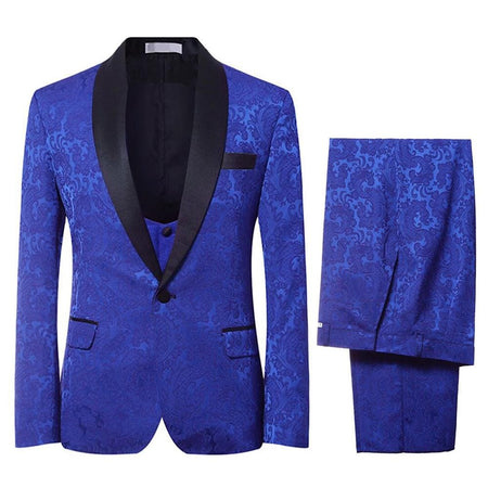 2-Piece Slim Fit Fashion Floral Suit 2 Colors