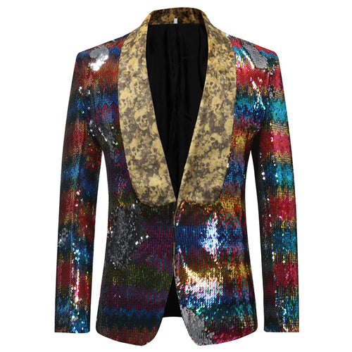 Modern Fit Sequin Blazer motley - Cloudstyle
