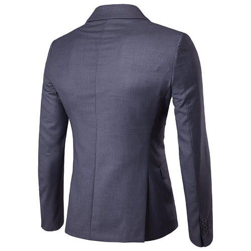 Dark Grey Casual Blazer Slim Fit Business Blazer