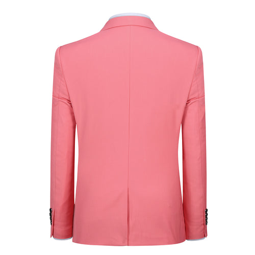 Pink Stylish Blazer One Button Casual Blazer