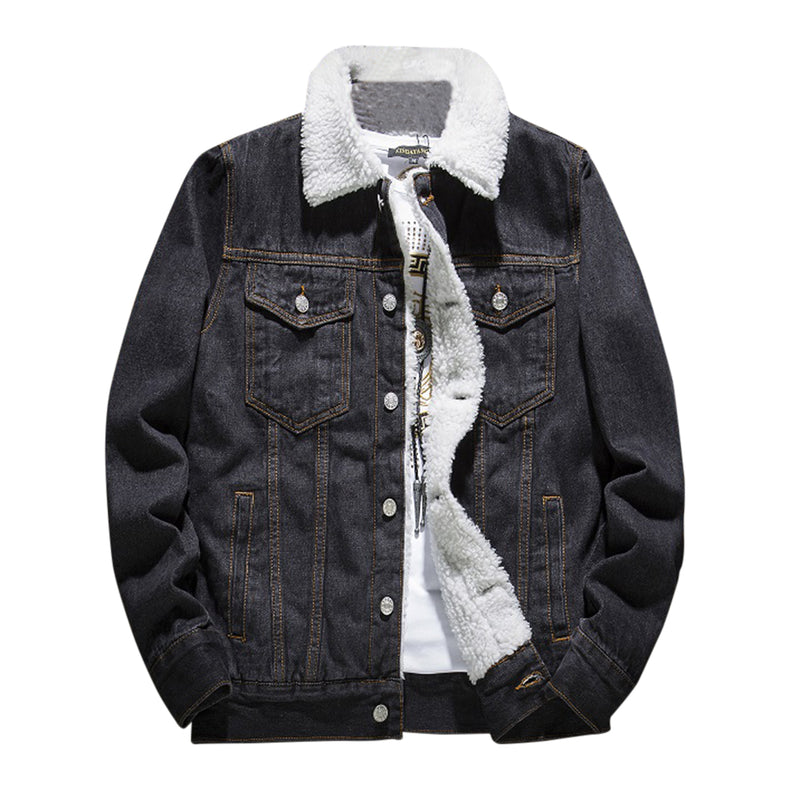 Classic Fit Faux Denim Jacket 3 Colors - Cloudstyle
