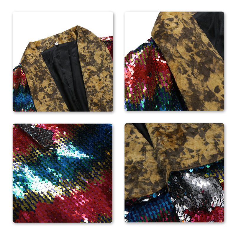 Modern Fit Sequin Robe Motley - Cloudstyle