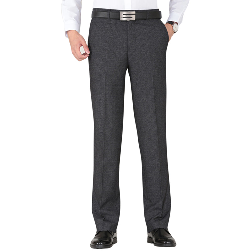 Dark Grey Modern Fit Thick Suit Dress Pants