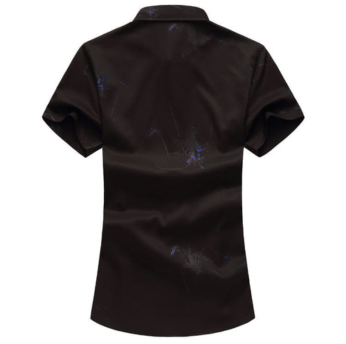 Slim Fit Lightweight Printing Shirt Black
