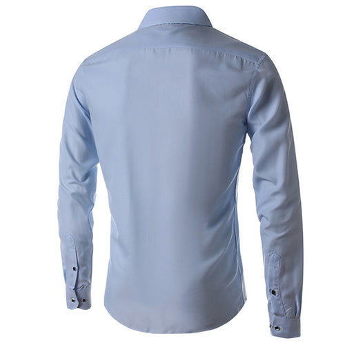 Slim Fit LightBlue Fringed Shirt