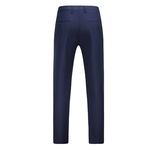 Navy Modern Fit Straight Leg Classic Dress Pants