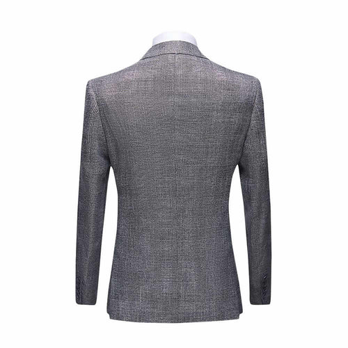 Three Piece boutique Suit Checked Suit Grey