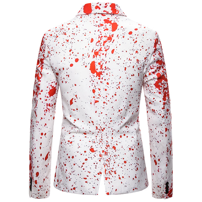 Slim Fit Ink Jet Blazer White