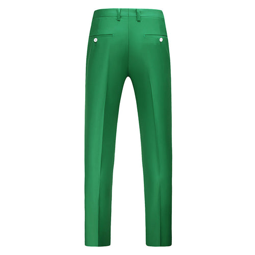 Green Modern Fit Straight Leg Classic Pants