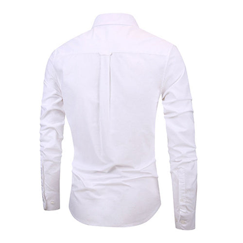 Slim Fit White Stylish Cotton Shirt