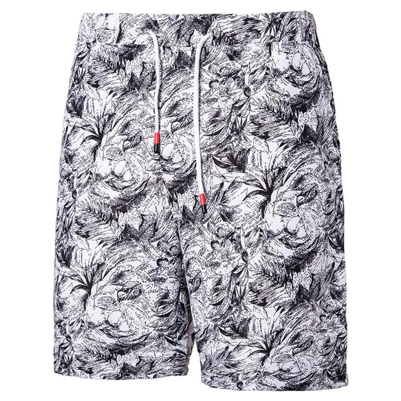 Relaxed Fit Paisley Beach Shorts Grey