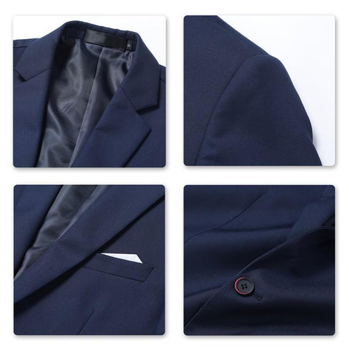 Navy 3-Piece Suit Slim Fit Two Button Suit