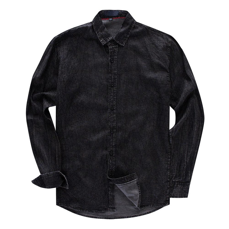 Slim Fit Windowpane Paisley Shirt Black