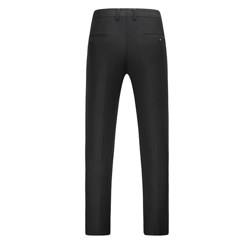 Black Modern Fit Straight Leg Classic Dress Pants