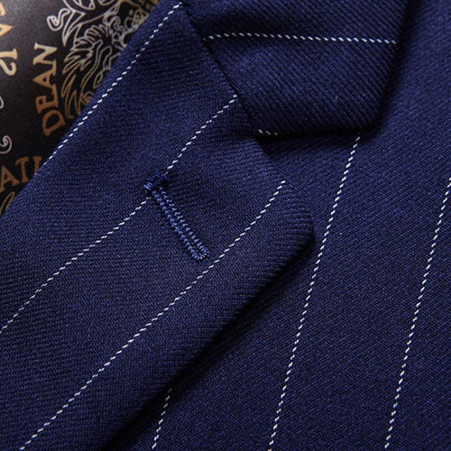 Three Piece Nagaro Blue Suit Stripe Design Suit
