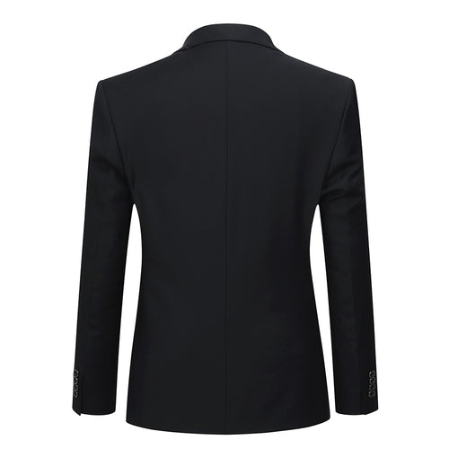 2-Piece Slim Fit Suit Black Casual Suit