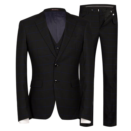 2-Piece Slim Fit Pleuche Suit 3 Colors
