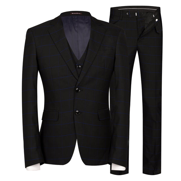 3-Piece Slim Fit Vintage Suit 6 Colors - Cloudstyle