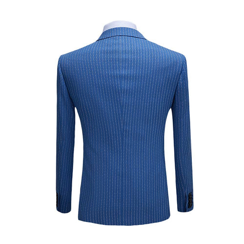 Three Piece boutique Suit Stripe RoyalBlue Suit