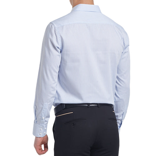 Slim Fit Pinstripe Shirt White