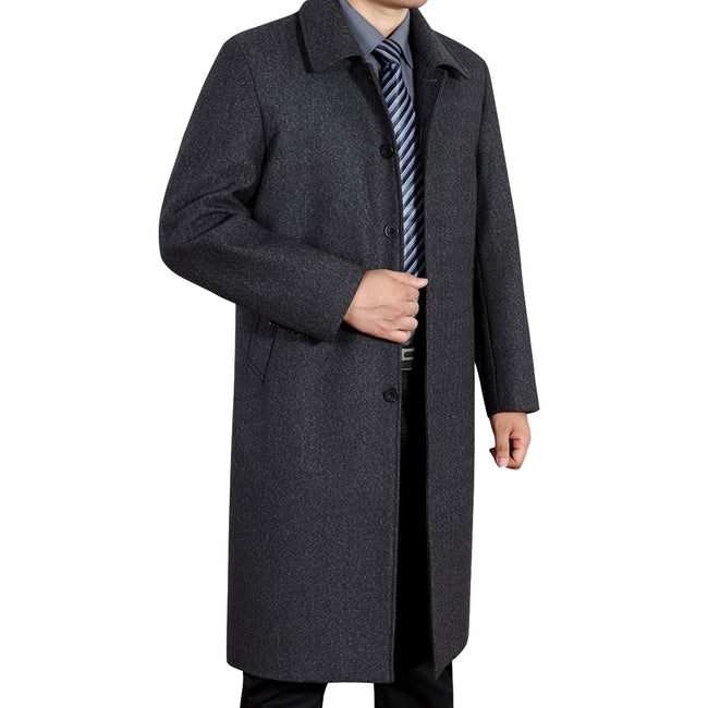 Slim Fit Solid Overcoat 2 Colors