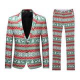 2-Piece Christmas Bachelor Party Suit Green - Cloudstyle
