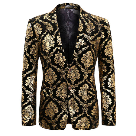 Slim Fit Party Blazer Gold