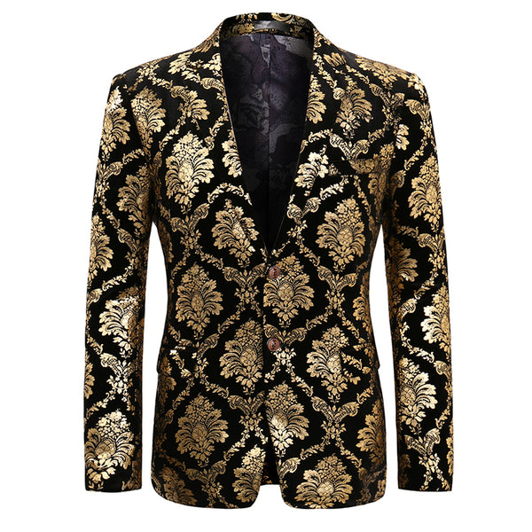 Modern Fit Paisley Floral Blazer 4 Colors - Cloudstyle