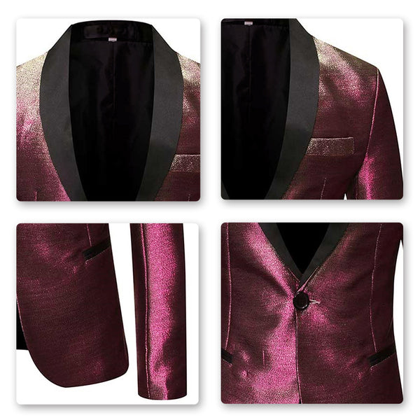 Magic Light Style Burgundy Blazer