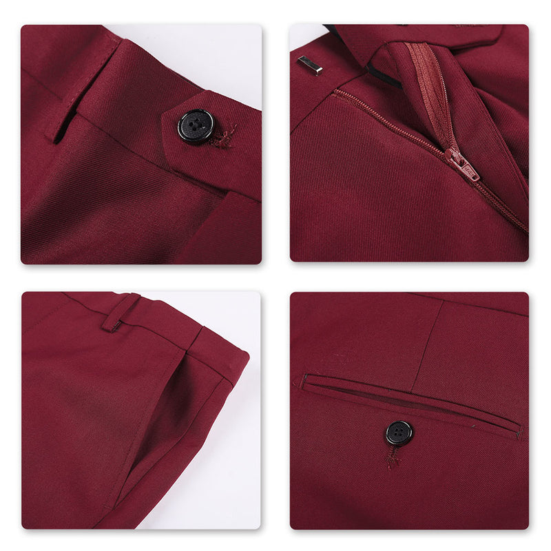 2-Piece Slim Fit Classic Maroon Suit