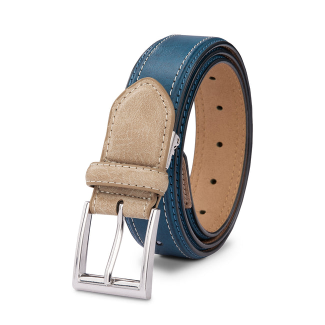 Whole Punched Needle Buckle Belt 2 Colors