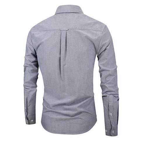 Slim Fit Grey Stylish Cotton Shirt