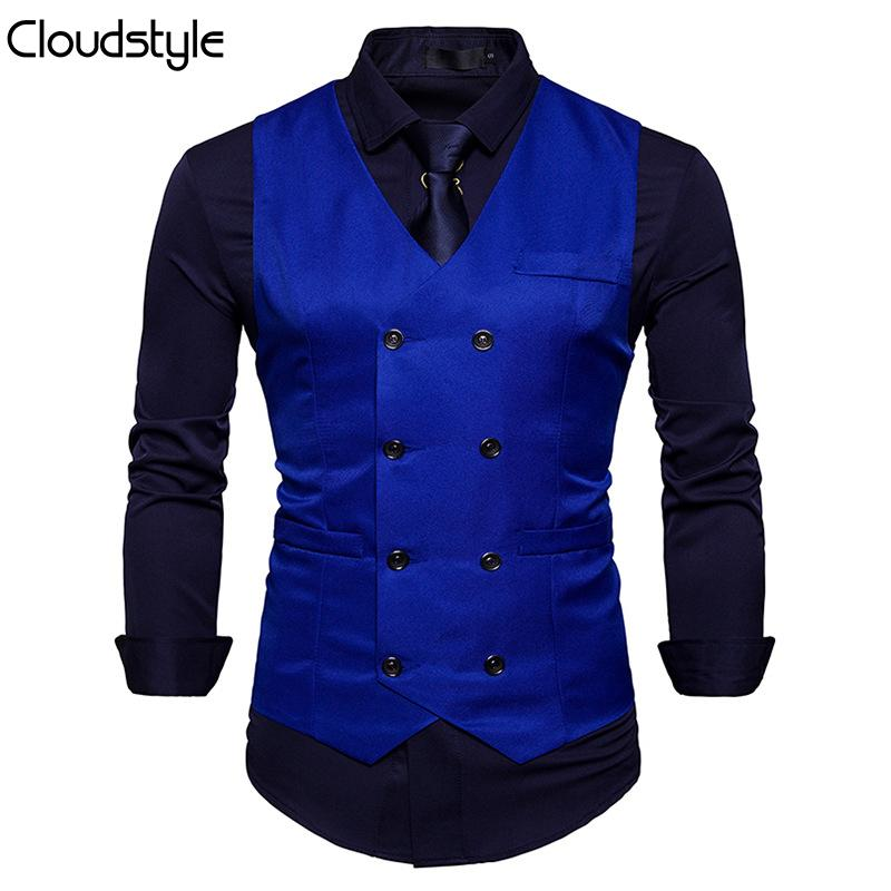 Slim Fit Durable Casual Vest Blue
