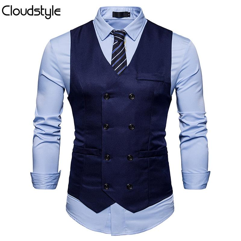 Slim Fit Durable Casual Vest Navy